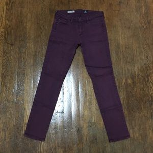 AG Adriano Goldschmied Plum Jeans Stevie Ankle